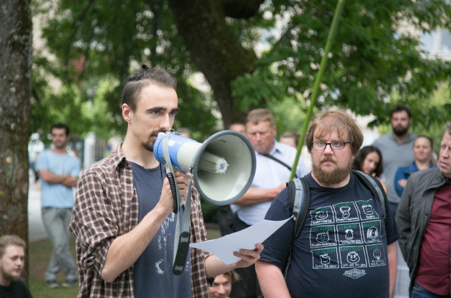 Protestas dėl naujo Darbo kodekso
