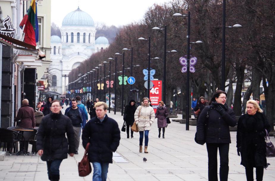 Kaunas Šv. Velykas pasitinka pasipuošęs margaspalviais drugeliais