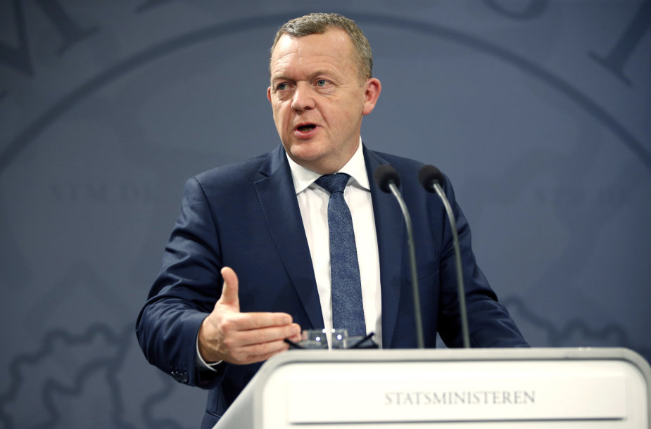 Danijos premjeras Larsas Lokke Rasmussenas