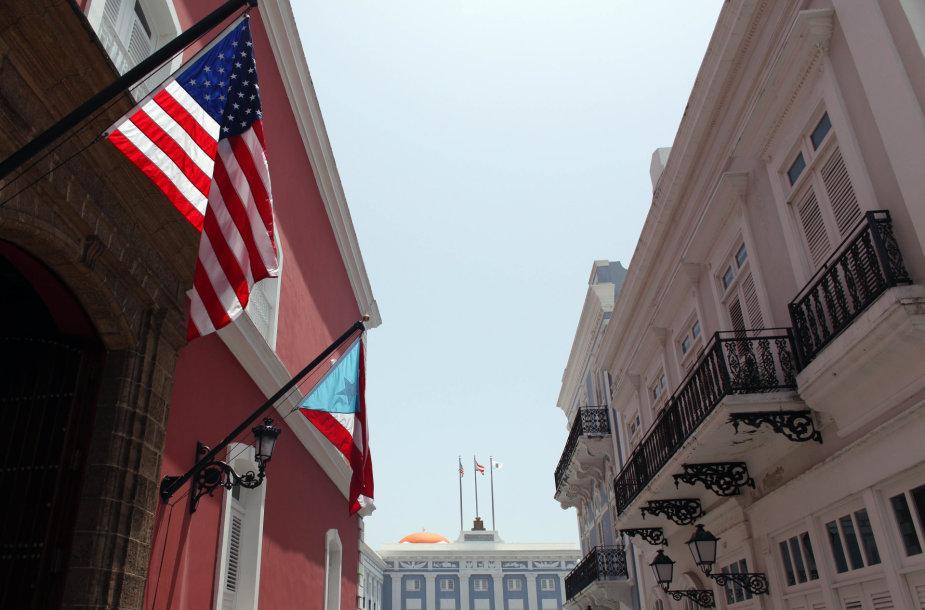JAV ir Puerto Riko vėliavos