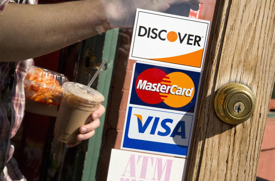 """MasterCard"" ir ""Visa"" logotipai"