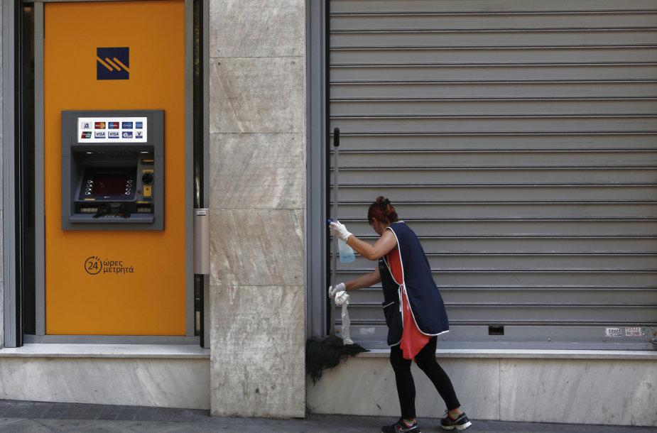 Bankomatas Atėnų gatvėje