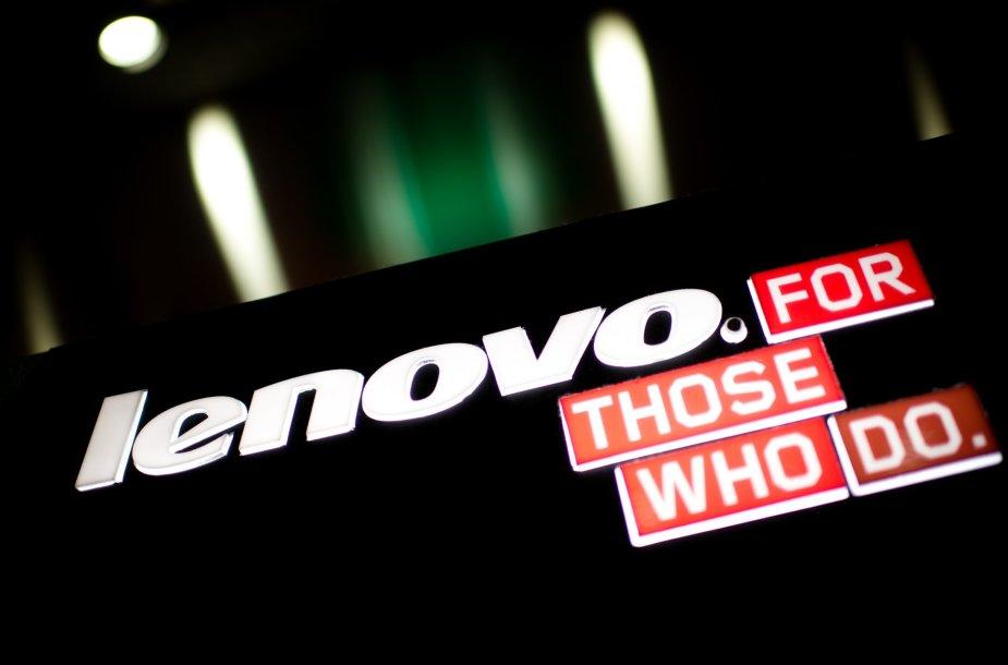 """Lenovo"" logotipas ir šūkis"