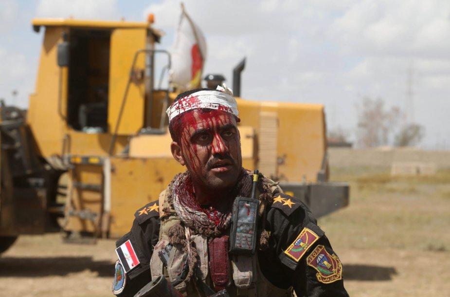 Irako pajėgų karys.