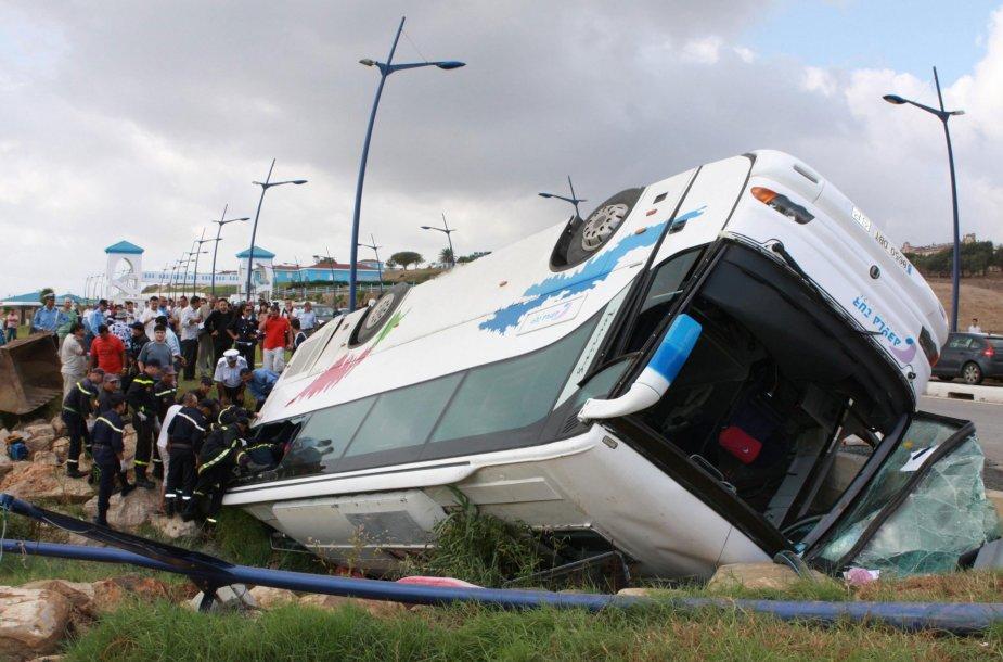Autobuso avarija.