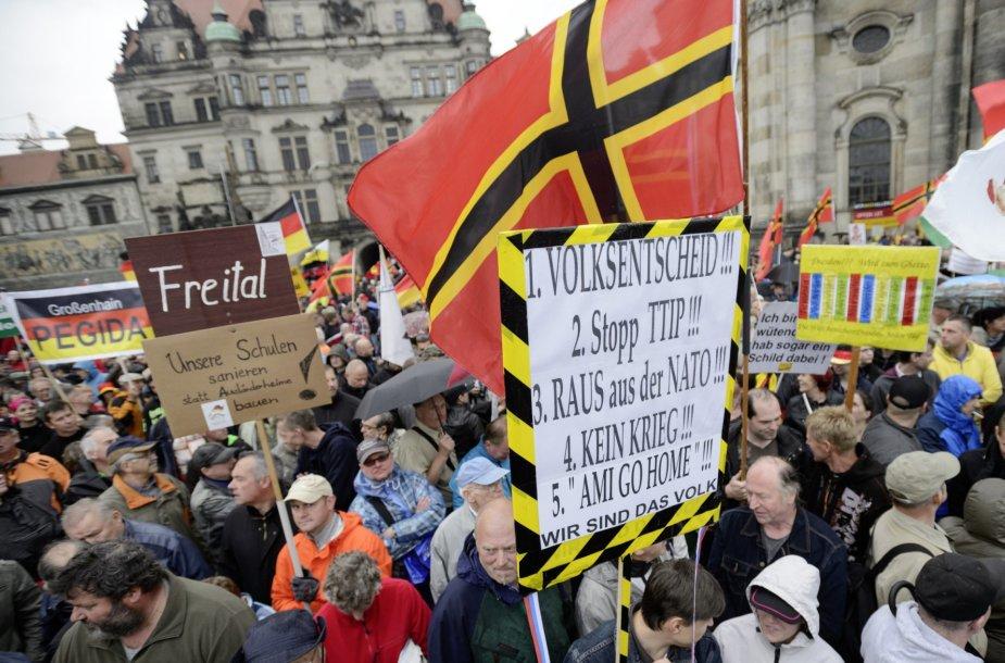 """""""Pegida"""" judėjimo protestas"""