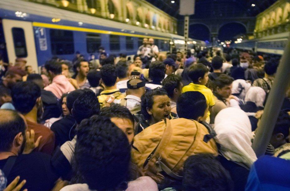 Pabėgėliai Kelečio stotyje