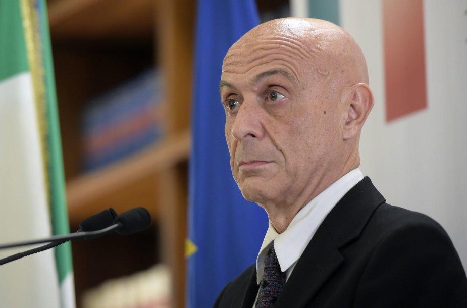 Italijos vidaus reikalų ministras Marco Minniti