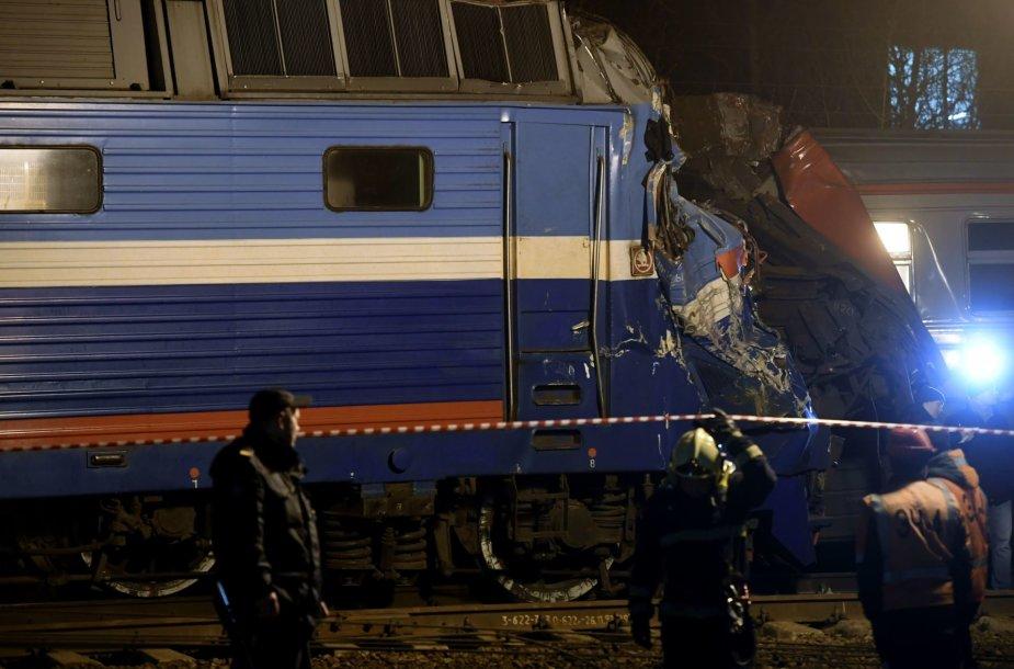 Traukinių susidūrimas Maskvoje