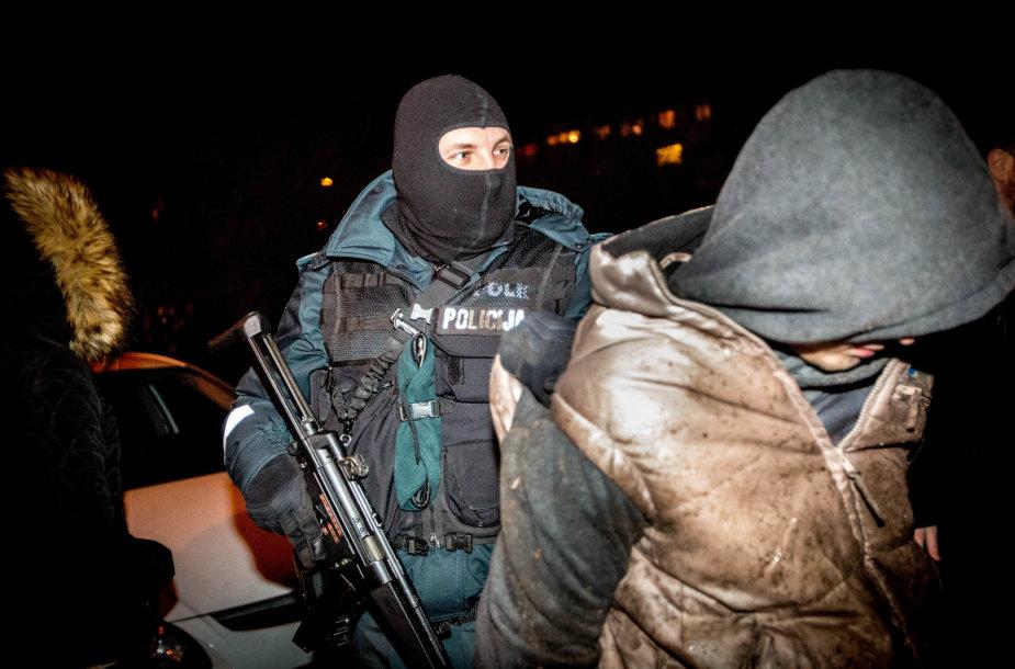 Slapta narkotikų platintojų sulaikymo operacija Vilniuje