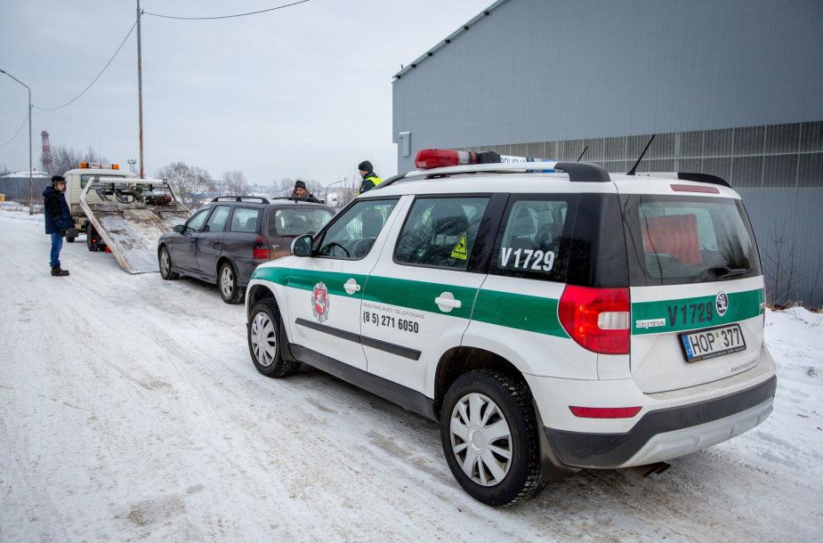 Policija sulaikė bėglio automobilį