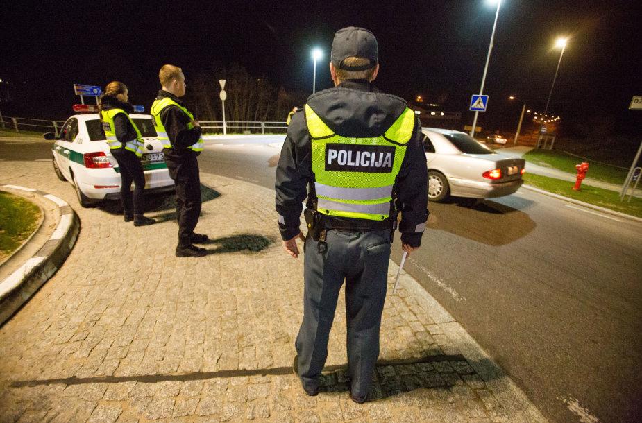 Kelių policijos naktinis penktadienio reidas
