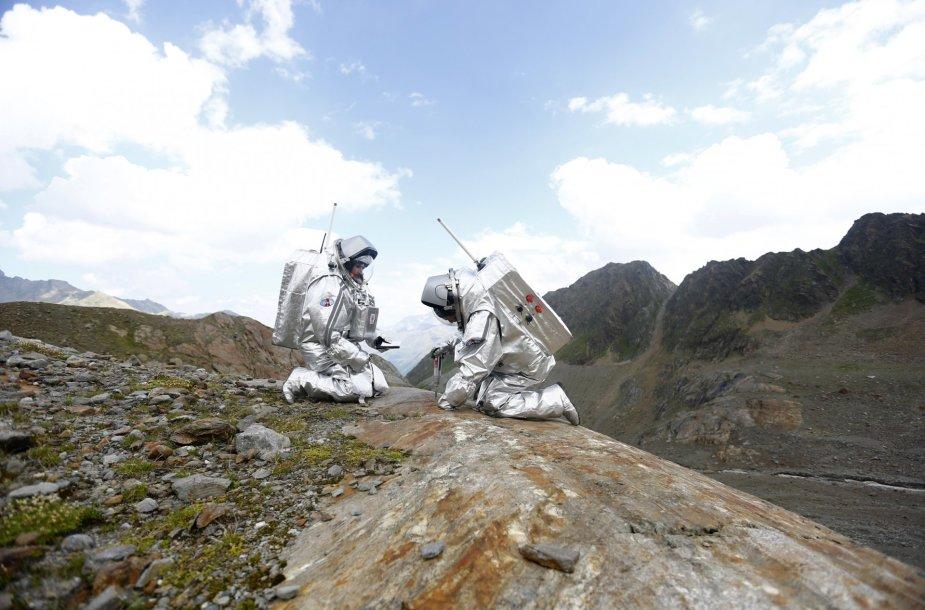 Misijos į marsą repeticija Austrijoje
