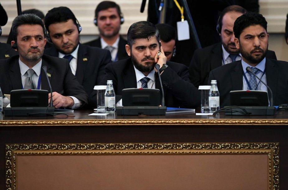 Astanoje prasideda Sirijos sukilėlių ir vyriausybės taikos derybos