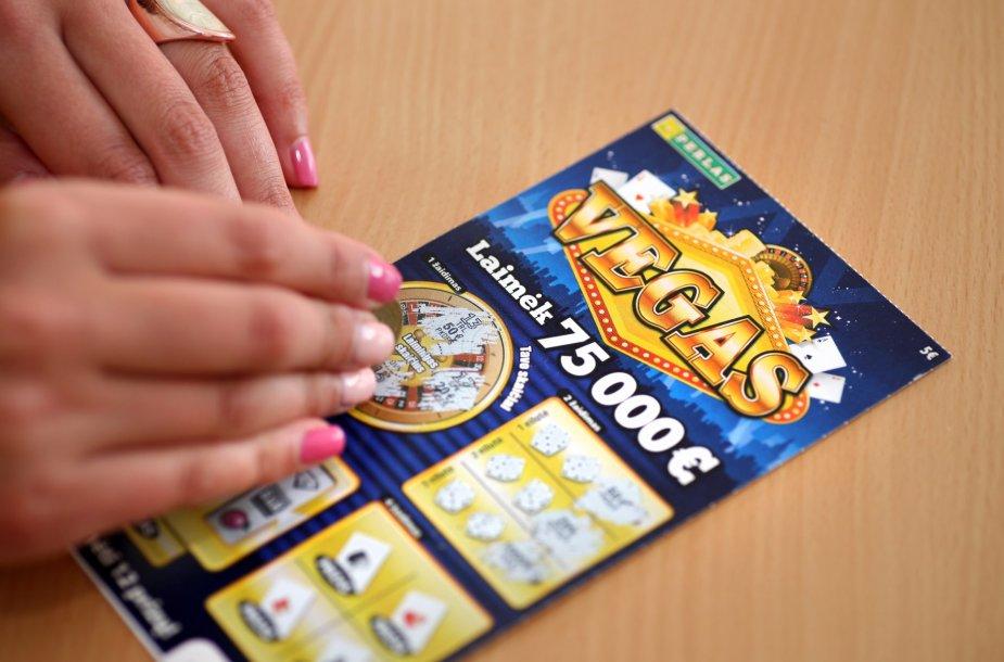 Momentinės loterijos bilietas