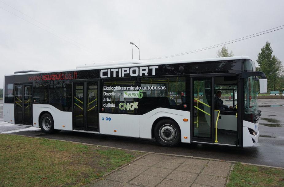 """Modernusis, bandymams skirtas """"Citiport"""" autobusas"""