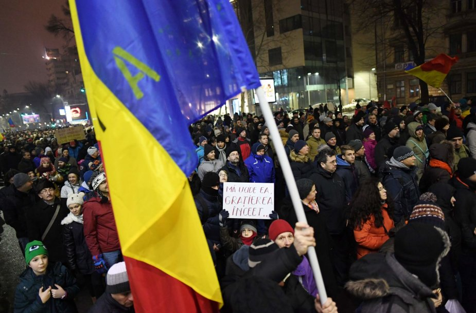 Protestai Rumunijoje.