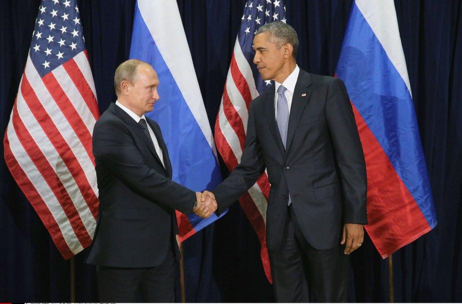 Vladimiro Putino ir Baracko Obamos susitikimas