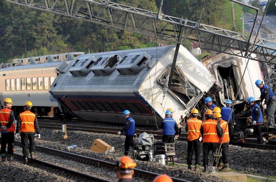 Traukinio avarija Pietų Korėjoje