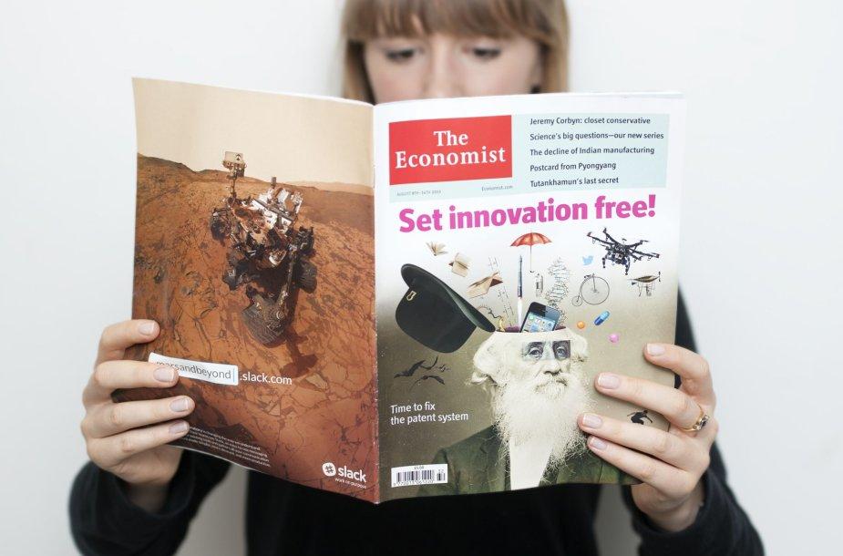 """Mergina skaito """"The Economist"""""""