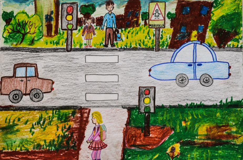 """""""Būk saugus eismo dalyvis"""" akcija Mažeikiuose"""