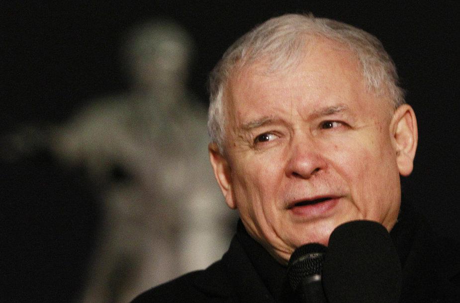 PiS lyderis Jaroslawas Kaczynskis.