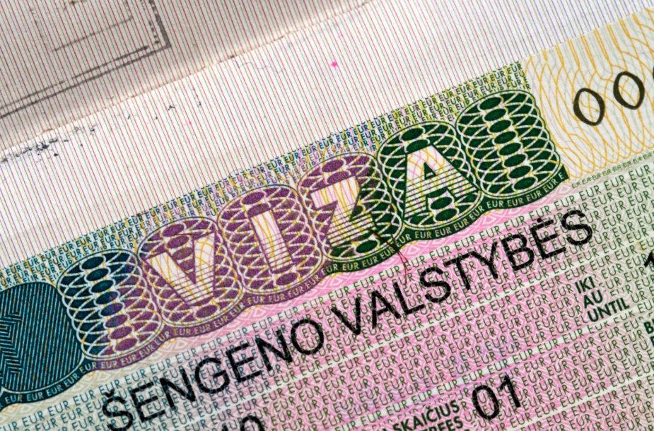 Lietuvos išduoda Šengeno zonos viza