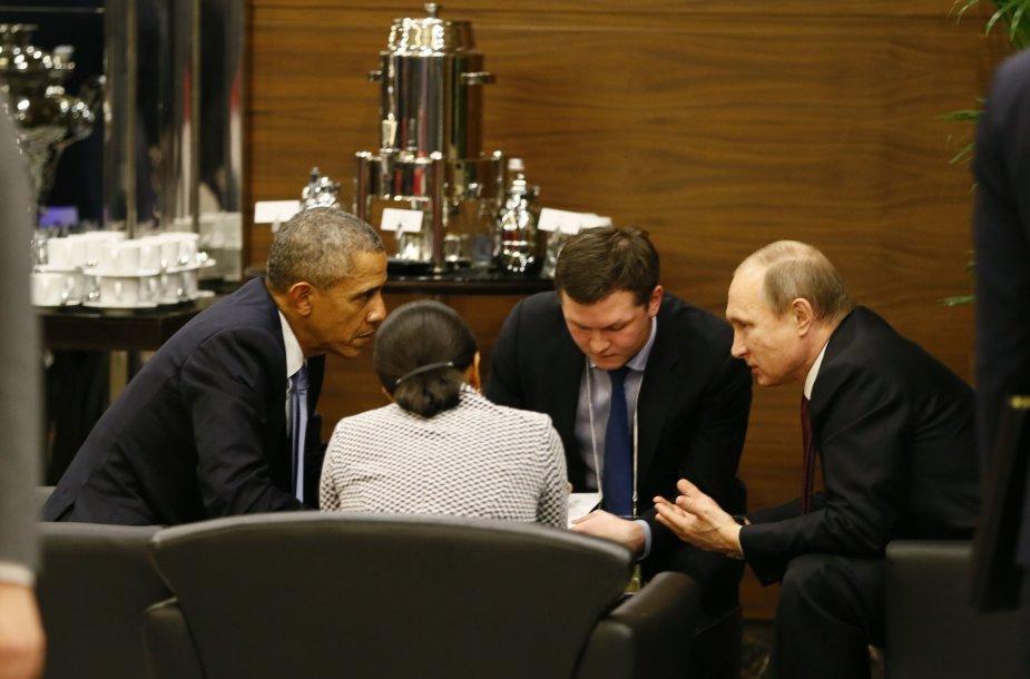 B.Obama susitiko su V.Putinu