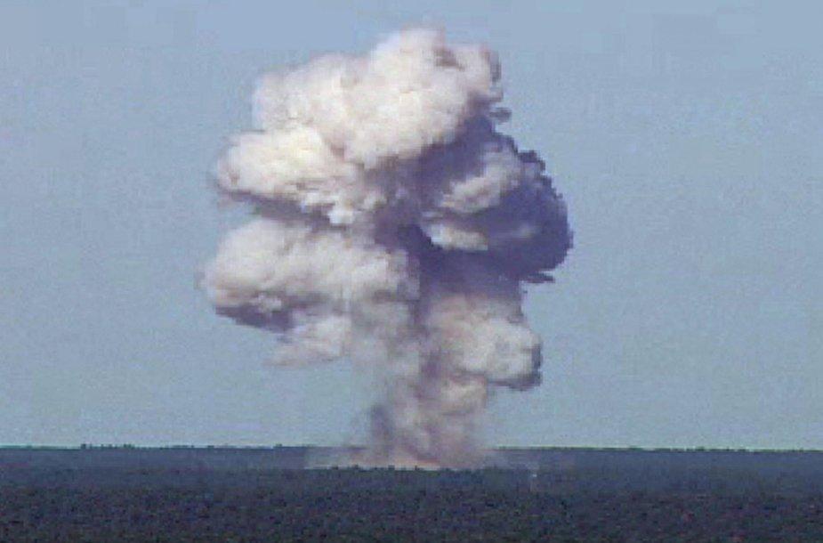 JAV numesta didžiulė bomba Afganistane užmušė dešimtis IS džihadistų