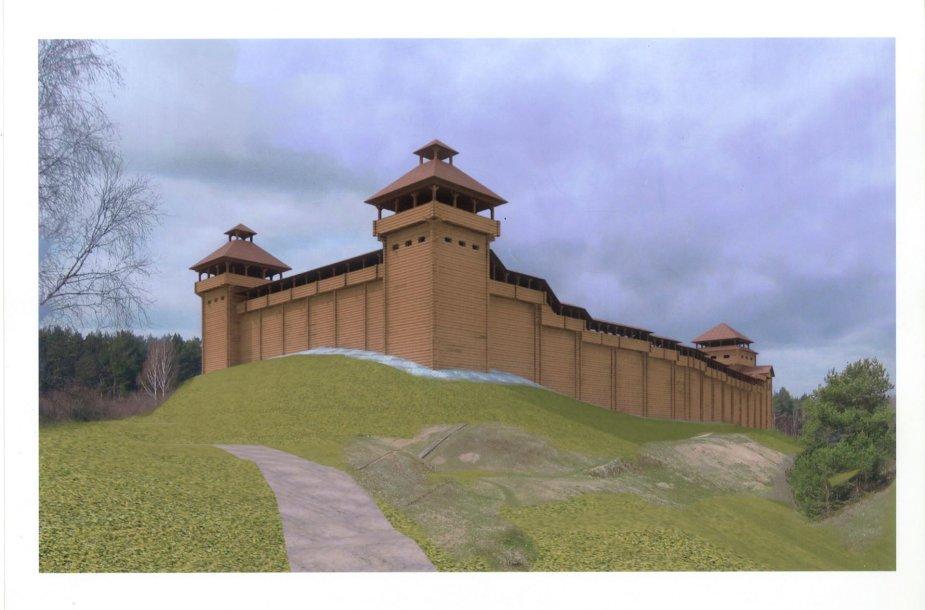 Anykščiuose netrukus prasidės medinės Vorutos pilies statybos