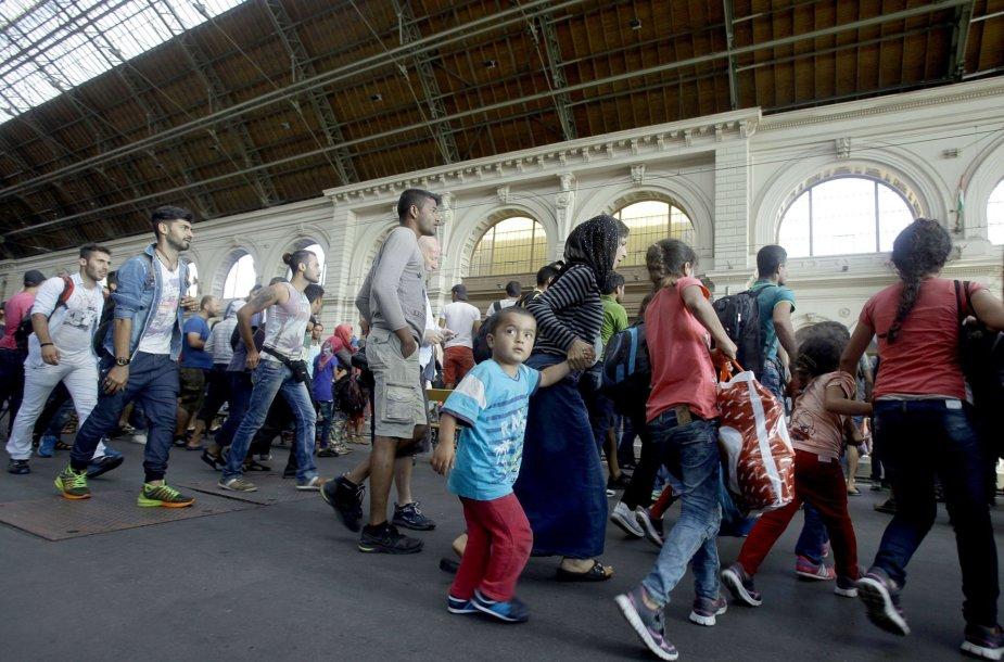 Pabėgėliai traukinių stotyje