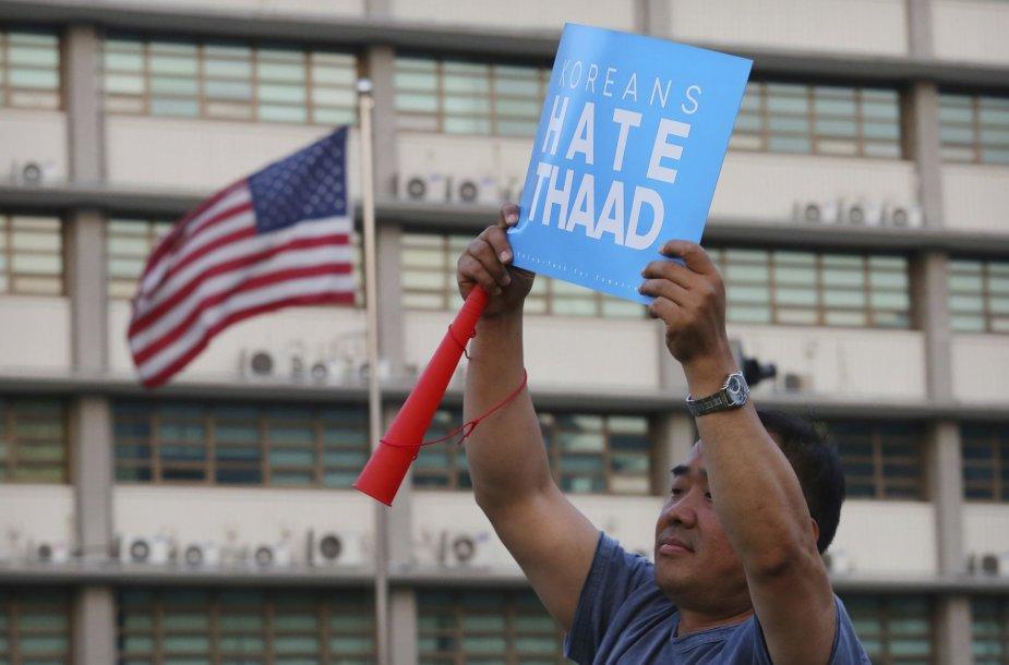 Protestas prieš Didžiausio aukščio oro erdvės gynybos sistemos.
