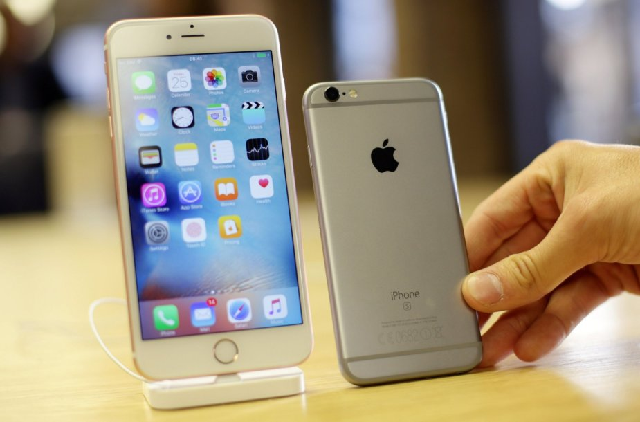 """iPhone 6s"" ir ""iPhone 6s Plus"""