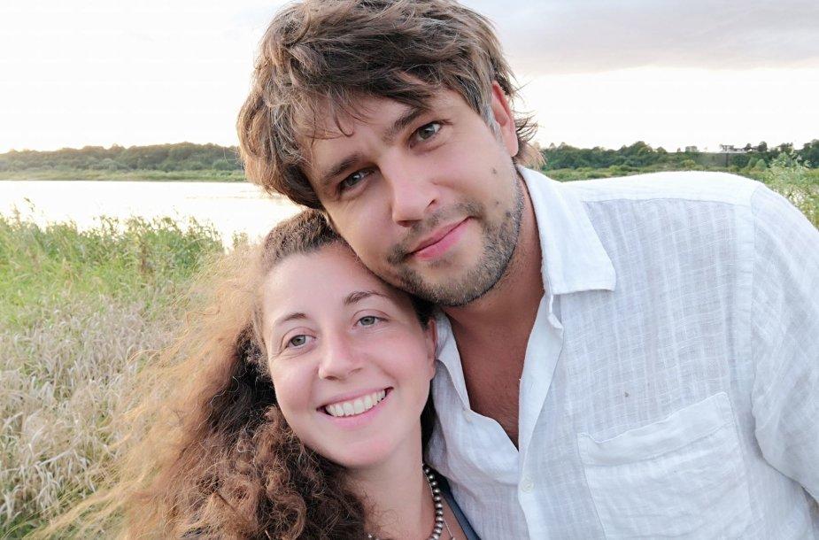 Andrius Pojavis su žmona Isabella