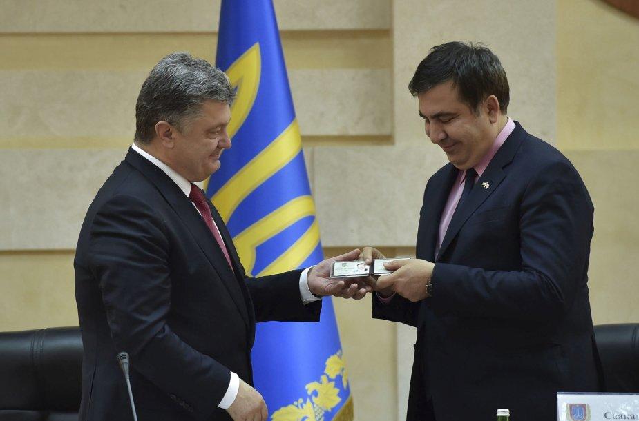 Petro Porošenka ir Michailas Saakašvilis.