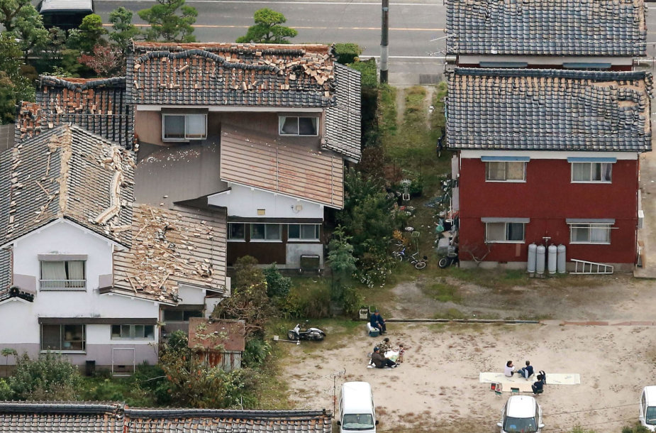 Japonijoje įvyko žemės drebėjimas