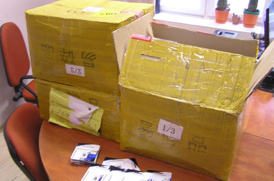 Konfiskuotos prekės iš Kinijos
