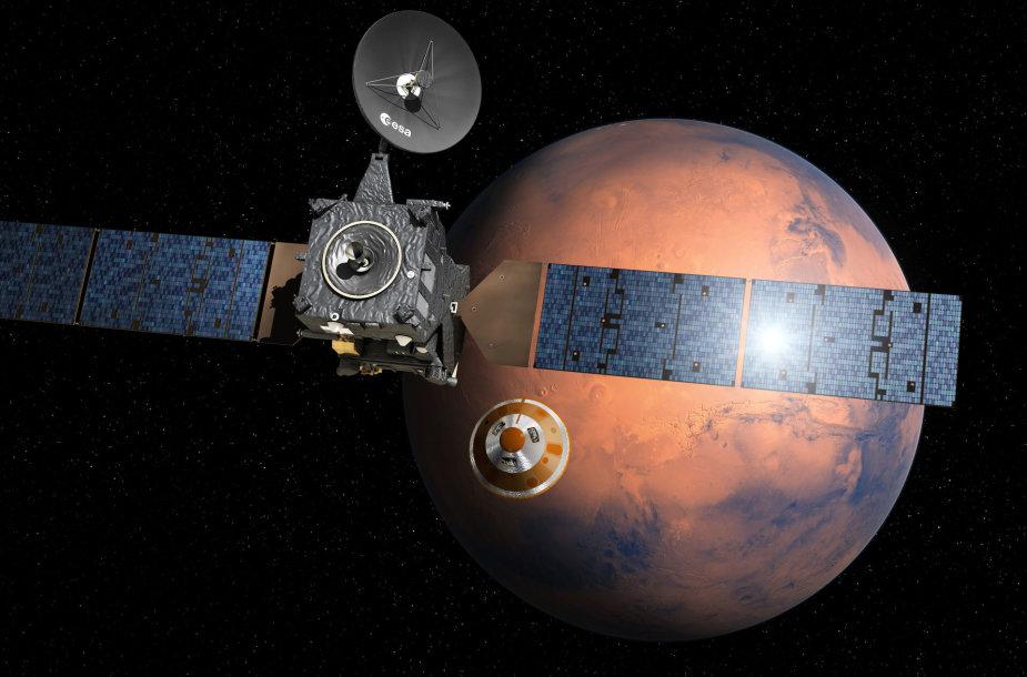 Marsaeigio atsiskyrimas numatomas 17 val. 42 min. Lietuvos laiku