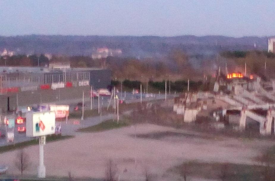 Vilniuje degė žolė.
