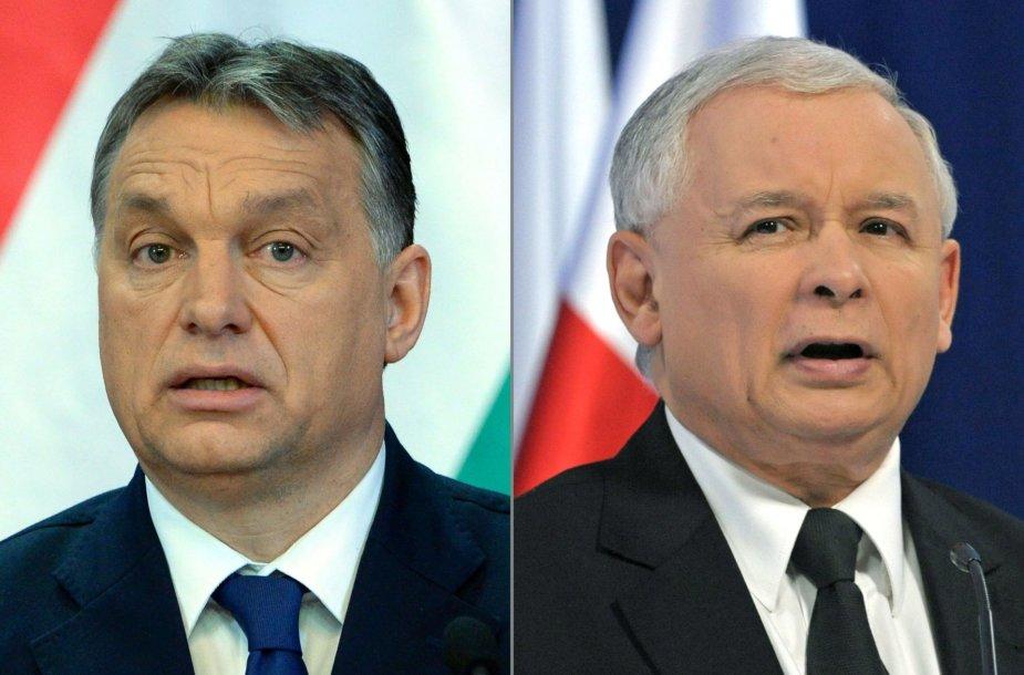 Viktoras Orbanas ir Jaroslawas Kaczynskis