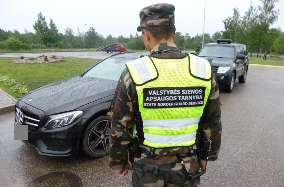 """Sulaikytas vogtas """"Mercedes Benz"""" automobilis"""