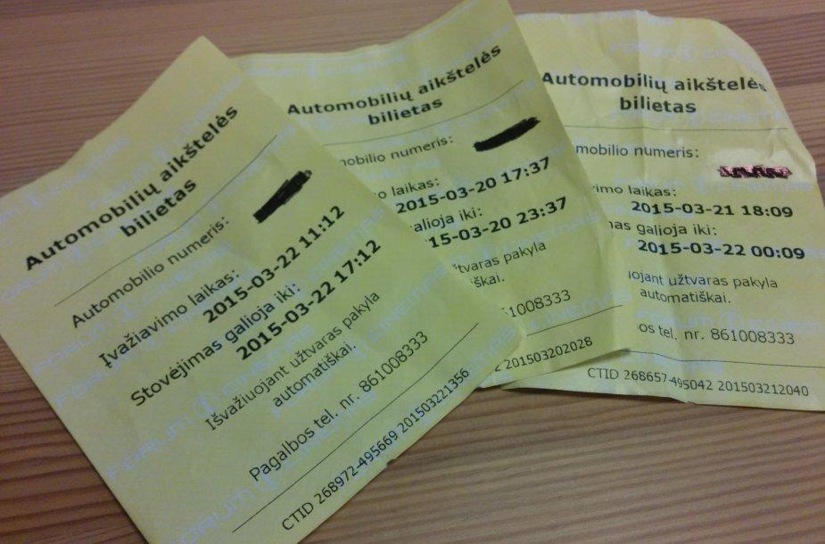 Stovėjimo bilietai