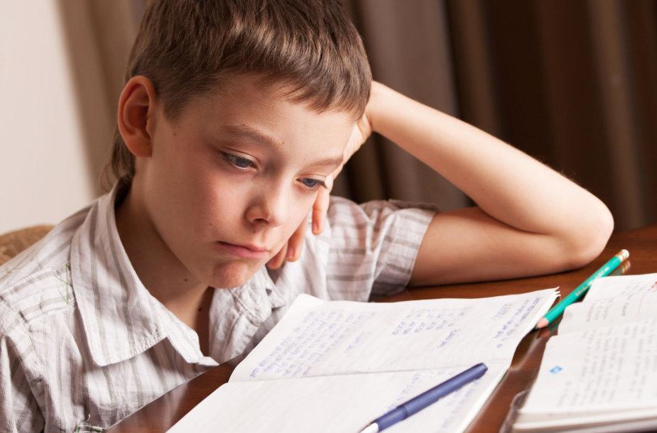 Berniukas ruošia pamokas / 123rf.com