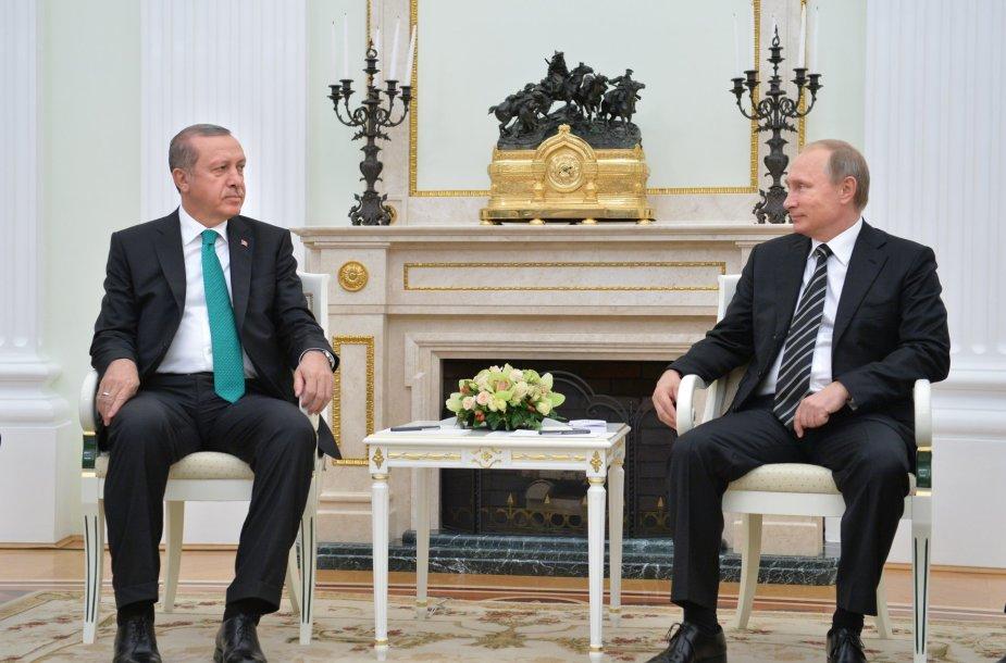 Recepas Tayyipas Erdoganas ir Vladimiras Putinas