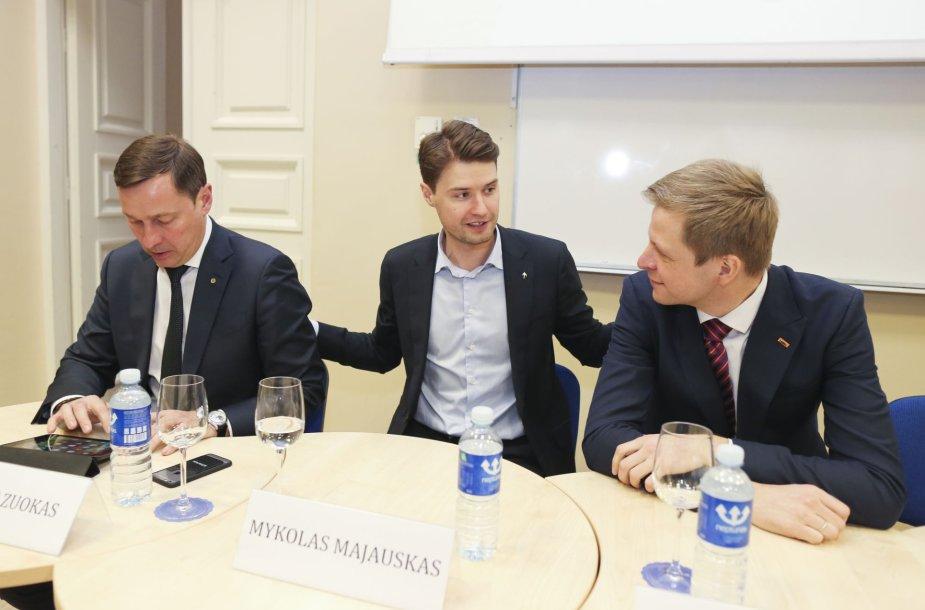 Artūras Zuokas, Mykolas Majauskas ir Remigijus Šimašius
