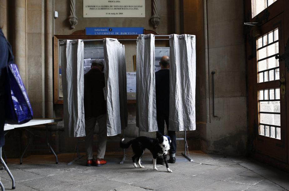 Balsavimo punktas Barselonoje