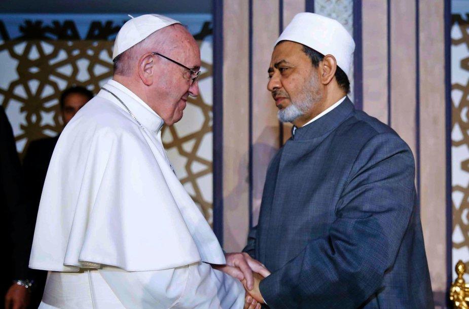 Popiežius Pranciškus ir šeichas Ahmedas el-Tayebas