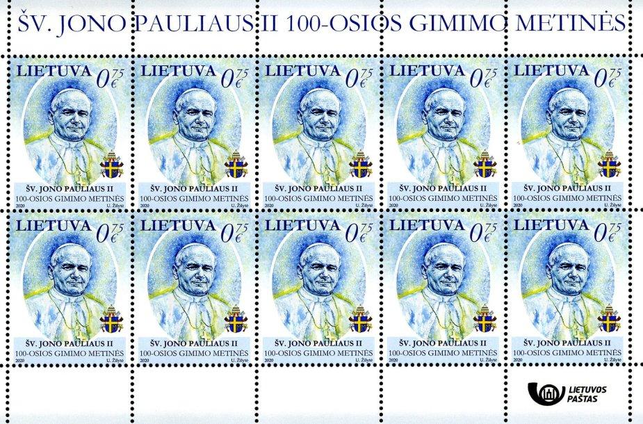 Pašto ženklas popiežiui Jonui Pauliui II