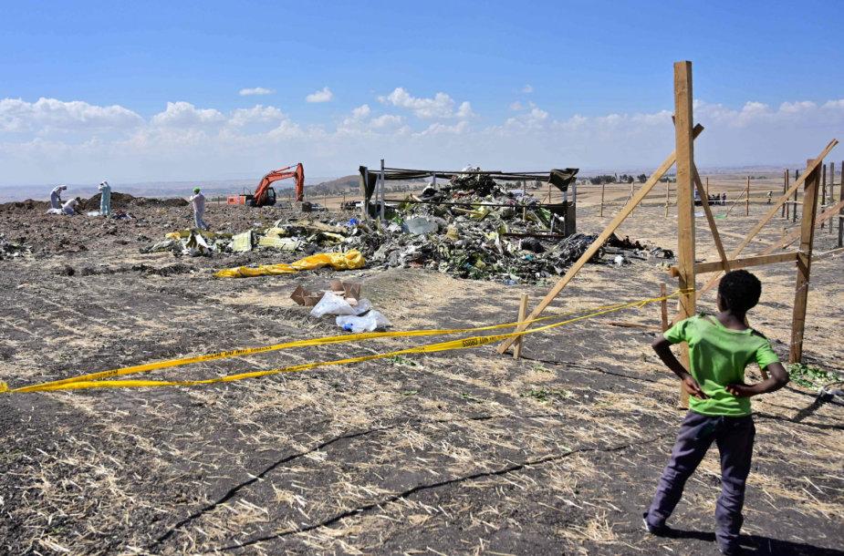 Aviakatastrofos vieta Etiopijoje