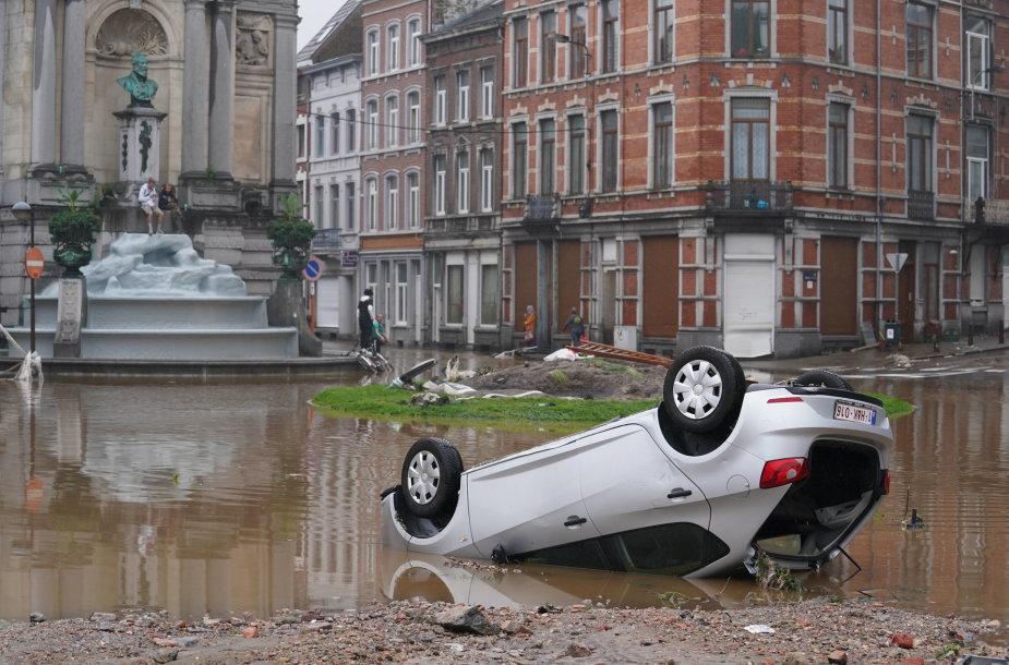 Katastrofiški potvyniai Vakarų Europoje